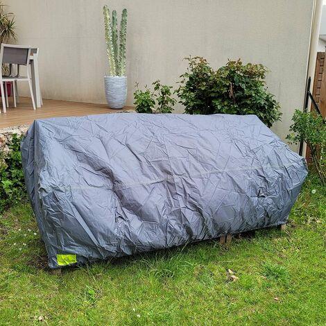 Housse pour canapé de jardin 3 Places - Gris