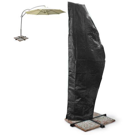 Housse pour parasol de jardin fermeture à glissière protection contre tempêtes