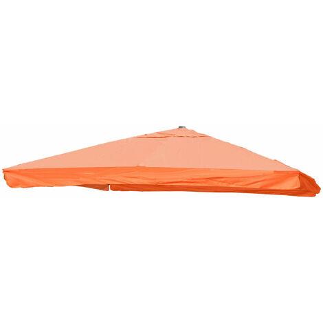 Housse pour parasol de luxe HHG-116 avec rabat 3x3m (Ø4,24m) polyester 3kg ~ terre cuite
