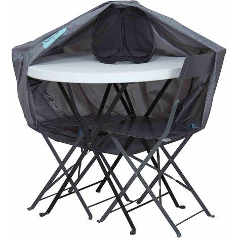 Housse pour table de jardin ronde 90 cm - Gris - 101785