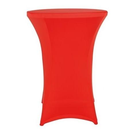 Housse pour table mange debout - rouge