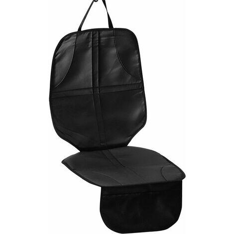 Housse Protection Siège Voiture En Cuir Antidérapage 55cm Noir
