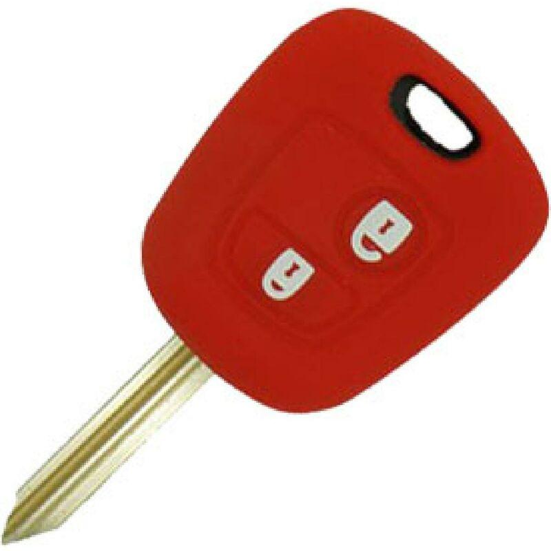 Housse silicone compatible avec cle 2 boutons PSA20S ROUGE