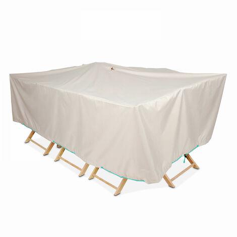 Housse table de jardin rectangulaire 240 x 130 cm - Taupe