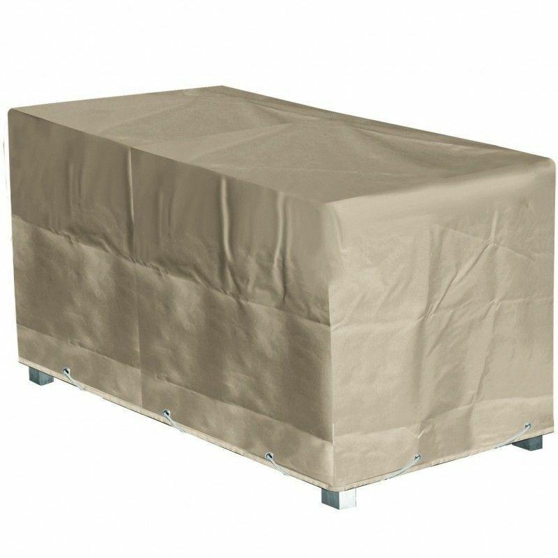 Housse Table Rectangulaire L 180 x l 110 x h 70 cm Beige - Beige