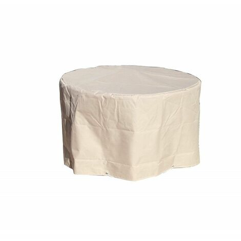Housse Table ronde ¯ 120 x h 70 cm Beige