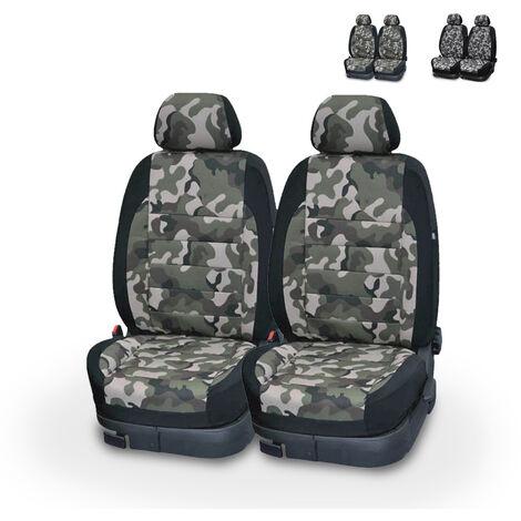 Housses de siège avant universelles camouflage pour voitures avec appuie-tête Panzer