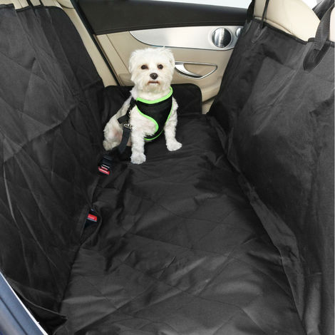 Housses de sièges pour chiens Yatek + ceinture de sécurité réglable, en tissu oxford 600D très résistant, dimensions 147 x 137 cm, convient à tous les véhicules