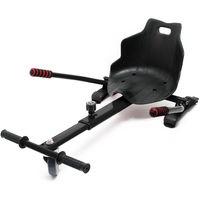 Hoverkart Seat for Hoverboard Kart Racer GoKart Swegway Balancing Scooter black
