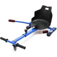 Hoverkart Seat for Hoverboard Kart Racer GoKart Swegway Balancing Scooter blue