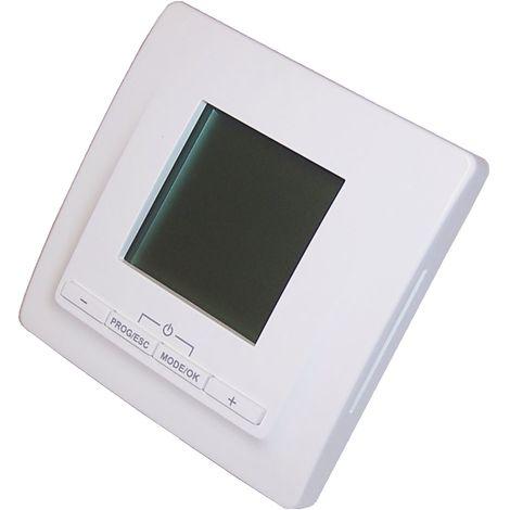 HoWaTech Temperaturregler Digital 520 mit Zeitschaltuhr für elektrische Fußbodenheizung