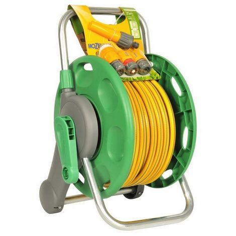 HOZ2431 - Hozelock 2431 2 in 1 Assembled Hose Reel with 25m Hose and Fittings