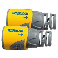 Hozelock 2050 Hose End Connector for 12.5-15 mm (1/2 in & 5/8 in) Hose Twin Pack