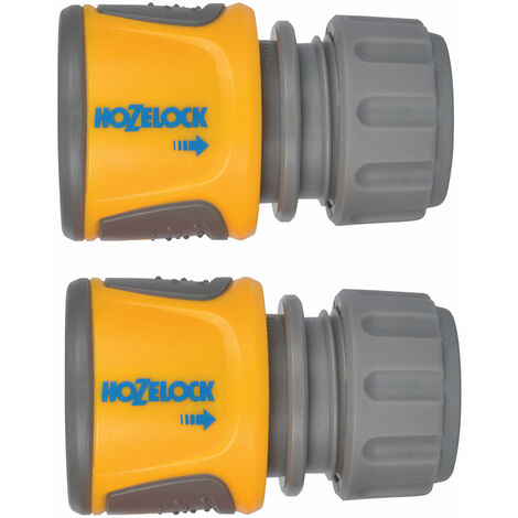 Hozelock 2070 6025 2070 Soft Touch Hose End Connector (Pack 2)