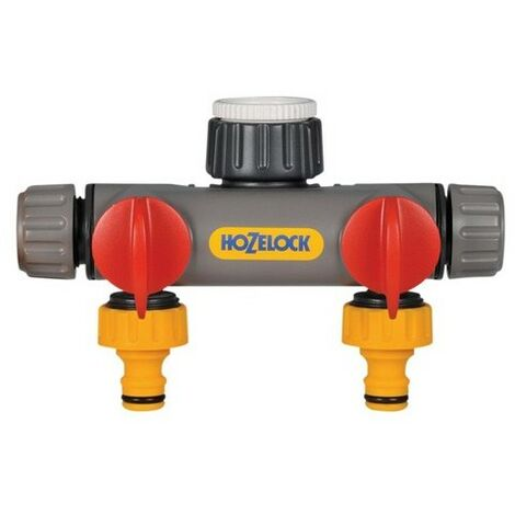 """main image of """"Hozelock 2252 0000 Two Way Tap Connector 1/2 - 1in BSP"""""""