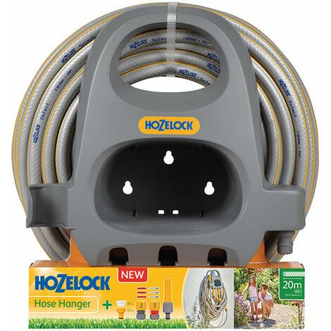Hozelock 2364 0000 2364 Hose Hanger with 20m Hose & Fittings