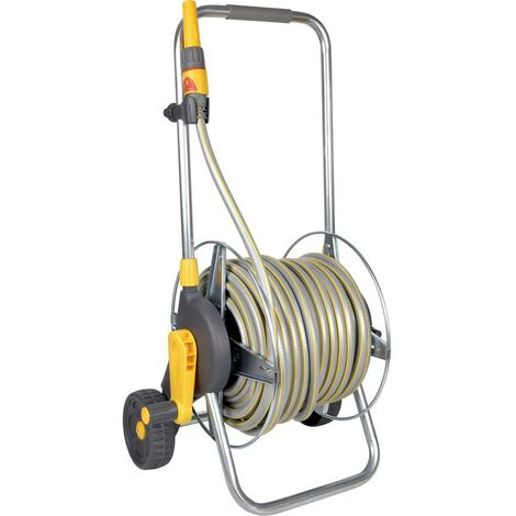 Hozelock 2436R3535 30 m gris, jaune Enrouleur de tuyau darrosage sur roues