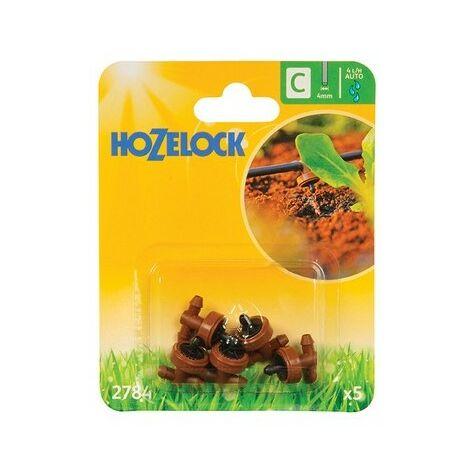 Hozelock 2784 In Line Pressure Dripper 4mm (5 Pack)