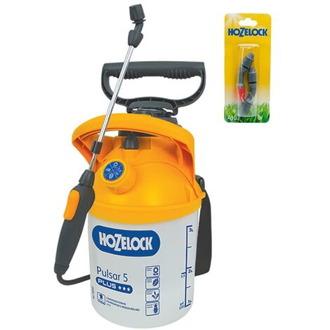 Hozelock 4310 Pressure Sprayer Plus 5 Litre 4705 + 4103 Spray Nozzle Set