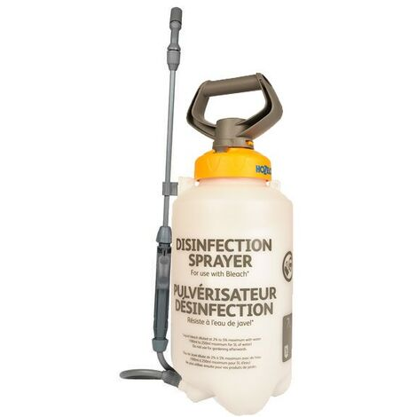 Hozelock 7 Litre Disinfection Pressure Sprayer Use With Bleach Cleaning