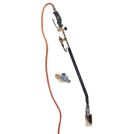 Hozelock désherbeur à gaz avec piézo, tuyau de gaz 5 m et régulateur de pression