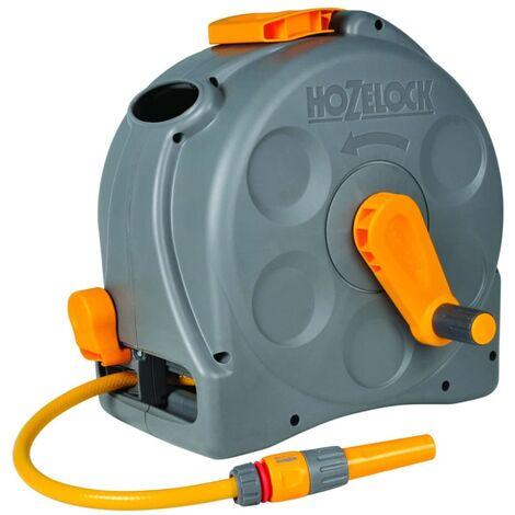 Hozelock Enrouleur de jardin mural/sur pied et tuyau 25 m Compact Reel