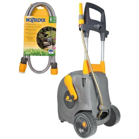 Hozelock Fast Cart Free Standing Garden Watering Hose 40m 2450 & 6005 Connectors