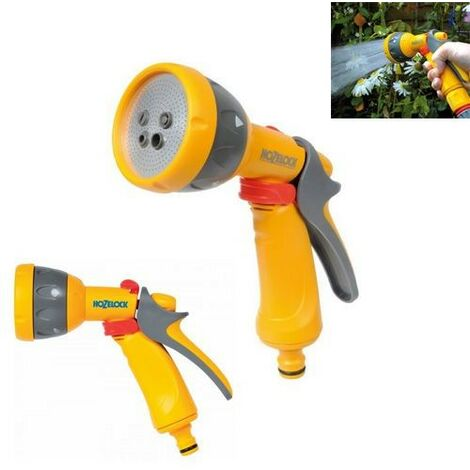Hozelock Multispray Multi Spray Hose Gun Sprayer 2676 5 Spray Pattern Metal Rose