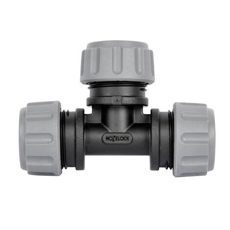 Hozelock Pièce en T pour irrigation de surface Easy Drip, 2 pièces, pour tuyaux Ø13mm