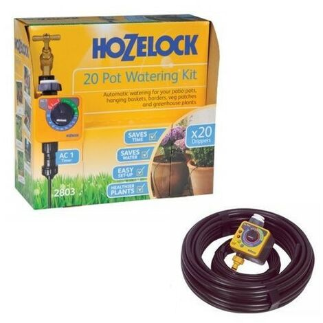 Hozelock Plus Auto 20 Plant Pot 7.5m Hedge Watering Kit 2803 2705 AC1 Timer