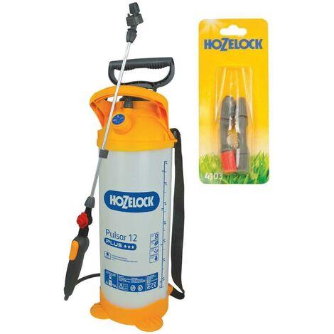 Hozelock Pulsar Plus 12 Litre Pressure Sprayer Garden Weed Killer Spray & Nozzle