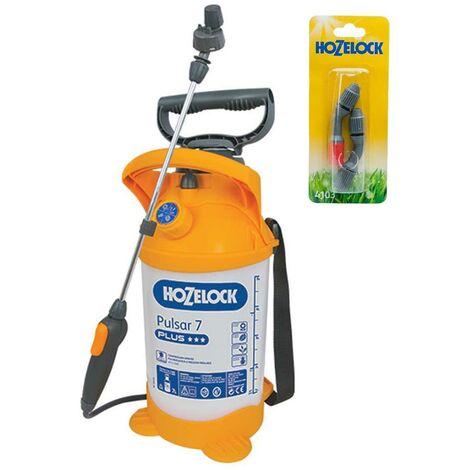 Hozelock Pulsar Plus 7 Litre Pressure Sprayer Garden Weed Killer & Spray Nozzle