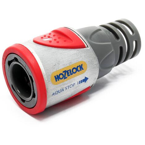 Hozelock Raccord tuyau AquaStop Metal Pro tuyaux 12,5 et 15 mm, avec revêtement SoftTouch