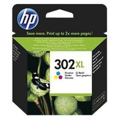 HP 302XL cartouche d'encre trois couleurs grande capacité authentique pour HP DeskJet 2130/3630 et HP OfficeJet 3830 (F6U67AE)