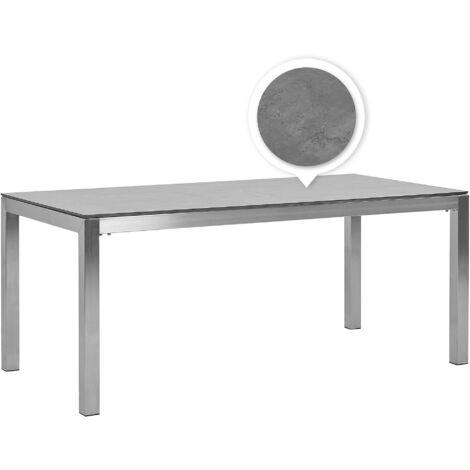 HPL Garden Table 180 x 90 cm Grey GROSSETO