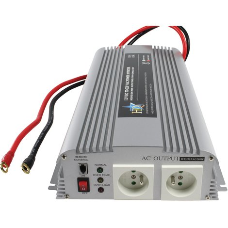HQ inversor de 12V - 230V de 1700 W, para batería de automóvil y barco