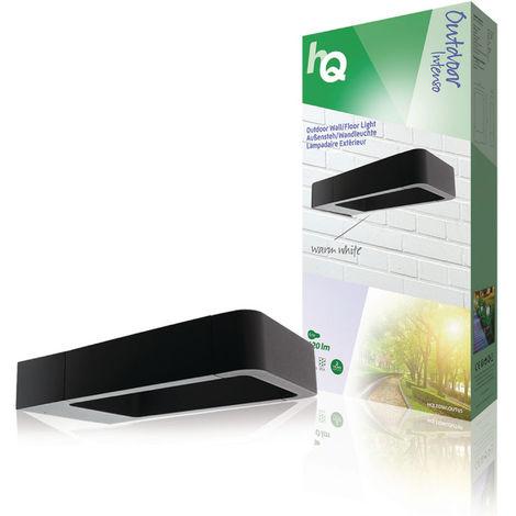 HQ Luz de pared LED para exteriores de diseño cuadrado, color antracita, vida útil muy larga, 6 W, 120 lm, protección IP54