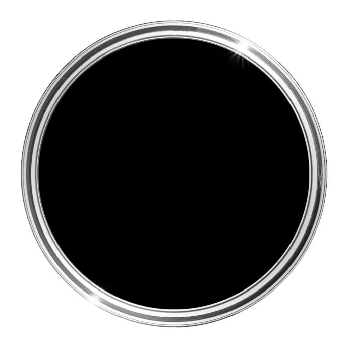 Image of Bathroom Matt Paint 0.5L (Black) - 0,5 L - HQC