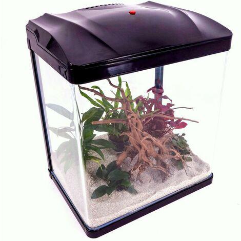 HR-300 schwarz Nano Aquarium Komplettaquarium Filteranlage Neues Modell LED Lampe