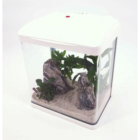 HR-300 weiß Nano Aquarium Komplettaquarium Filteranlage Neues Modell! LED Lampe