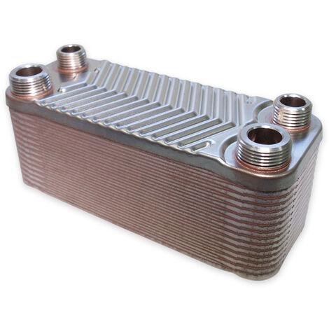 Hrale Échangeur de chaleur thermique inox 30 plaques max. 66 kW Eau Solaire