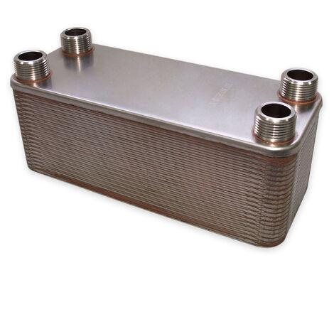 Hrale Échangeur de chaleur thermique inox 40 plaques max. 230 kW Eau Solaire