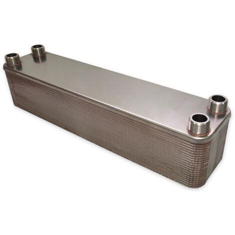 Hrale Échangeur de chaleur thermique inox 40 plaques max. 440 kW Eau Solaire