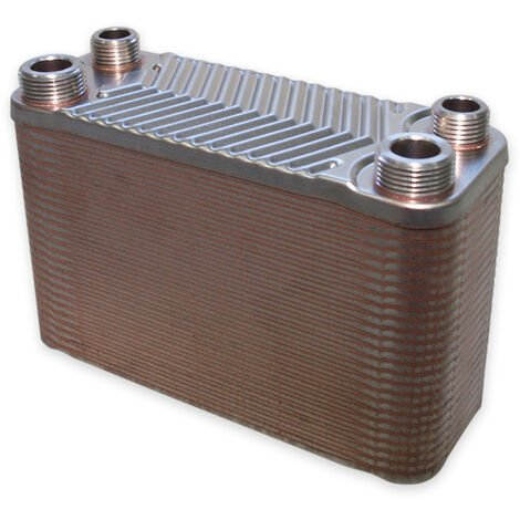 Hrale Échangeur de chaleur thermique inox 50 plaques max. 90 kW Eau Solaire
