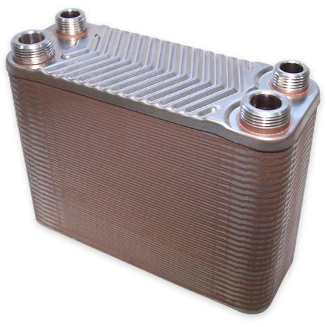 Hrale Échangeur de chaleur thermique inox 60 plaques max. 130 kW Eau Solaire