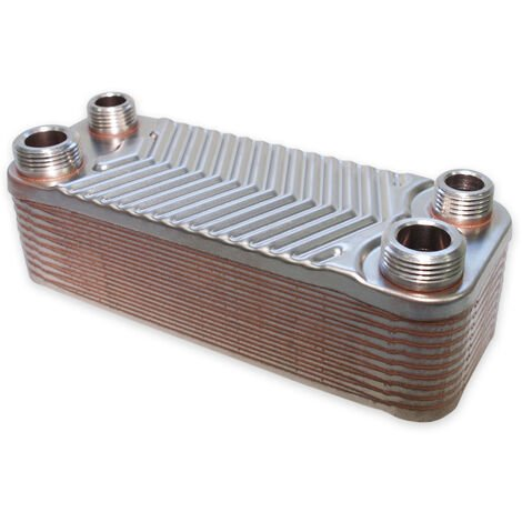 Hrale Edelstahl Wärmetauscher 20 Platten max 44 kW Plattenwärmetauscher Wärmetauscher