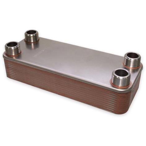 Hrale Intercambiador calor térmico acero inoxidable 20 placas Termocambiador placas máx. 115 kW
