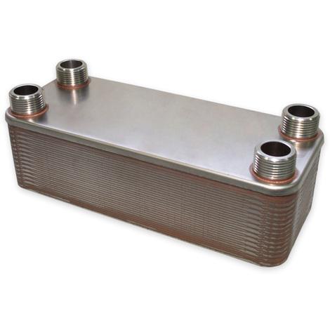 Hrale Intercambiador calor térmico acero inoxidable 30 placas Termocambiador placas máx. 175 kW
