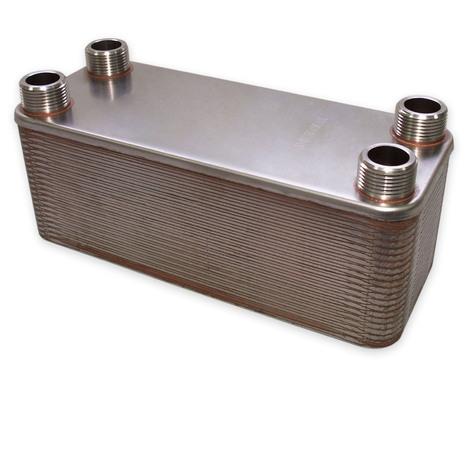 Hrale Intercambiador calor térmico acero inoxidable 40 placas Termocambiador placas máx. 230 kW