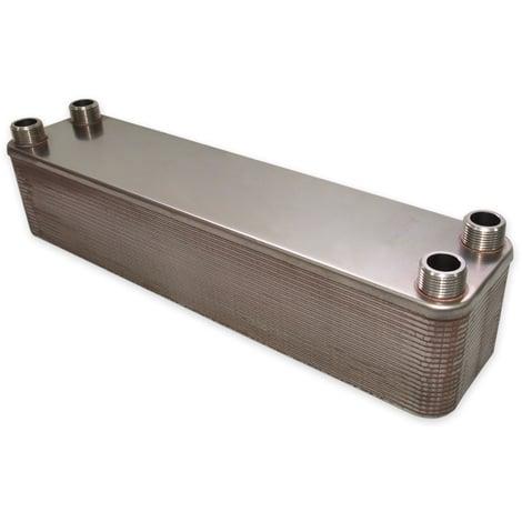 Hrale Intercambiador calor térmico acero inoxidable 40 placas Termocambiador placas máx. 440 kW